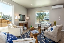Wow...light, bright, & just right! 9' ceilings, huge picture windows, durable vinyl floors, & a smooth transition into the dining room & gorgeous kitchen...