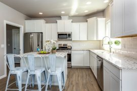 """Yes...this gorgeous kitchen raises the bar for a """"standard model"""" kitchen...Make it your own w/color choice of cabinets & counters. It will be an oasis for sophisticated foodies......"""