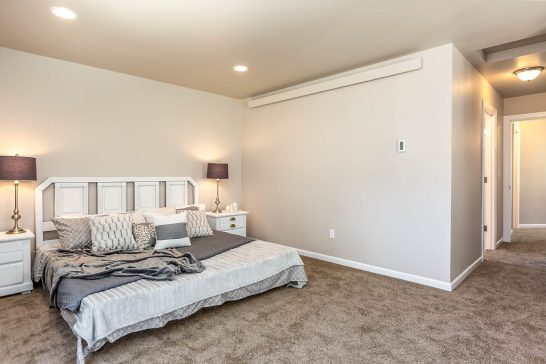 Master suite...although the mini-split heat pump is efficient enough to heat the entire house, each bedroom has radiant cove heating. This ensures your individual comfort!